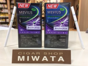 MEVIUS PREMIUM MENTHOL OPTION PURPLE 100'S SLIMS