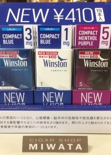Winston compact BLUE &Winston compact menthol purple
