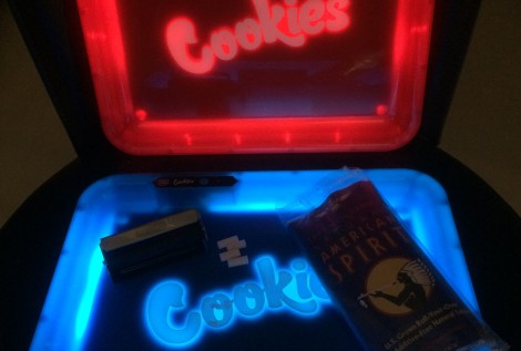 Glow tray for smoking accessories square LED tobacco rolling trays