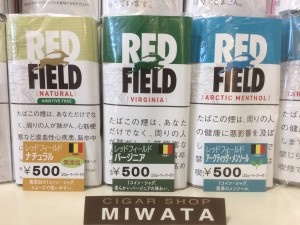 RED FIELD NATURAL・VIRGINIA・ARCTIC MENTHOL