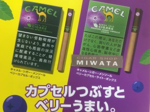 CAMEL CIGARS MENTHOL CIGARS BERRY CAPSULE BOX