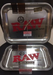 RAW METAL ROLLING TRAY SILVER