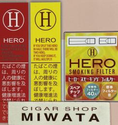 HERO RED・HERO YELLOW・HERO SMOKING FILTER